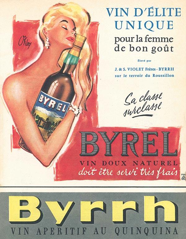 Byrrh: Fortified French sweet wine aperitif drink
