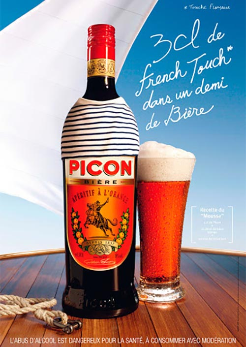 Picon bière is an orange bitter liqueur with gentian root and quinine: This French apéritif drink is meant to mix with beer.
