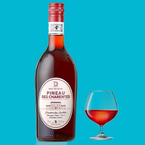 Pinneau des charentes: a fortified Mistelle French wine: A classic French aperitif drink
