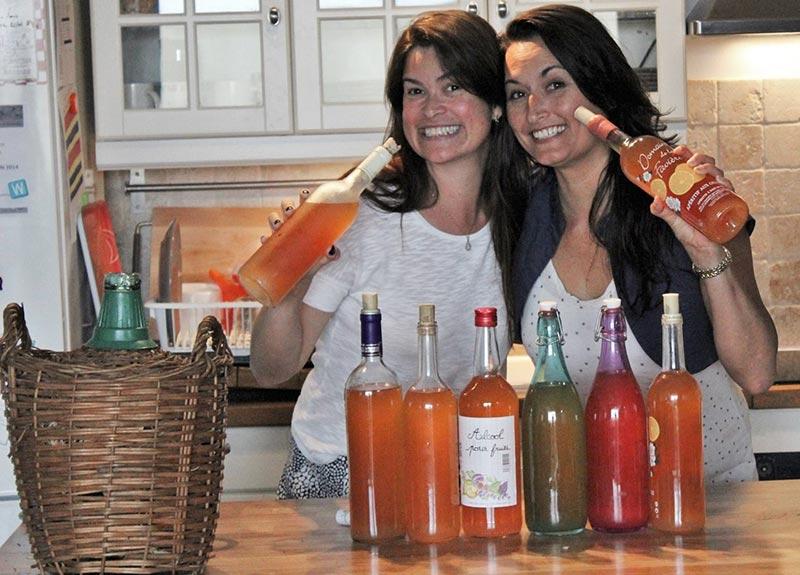 Homemade vin d'orange: orange wine a French Provençal aperitif drink