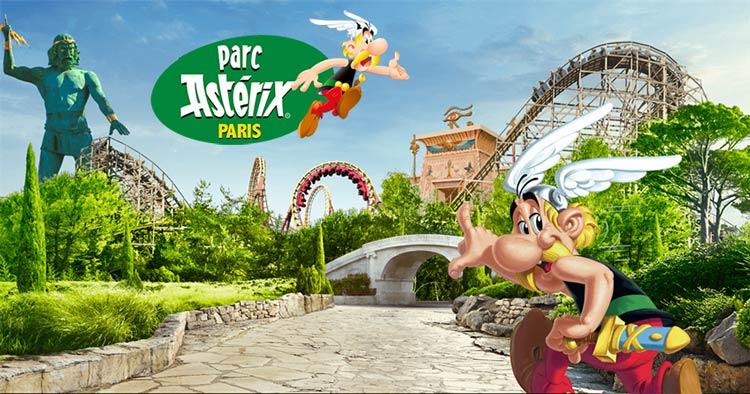 Astérix amusement park in France near Paris