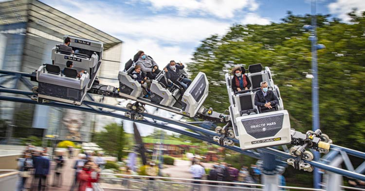 Objectif mars roller coaster ride at Futuroscope