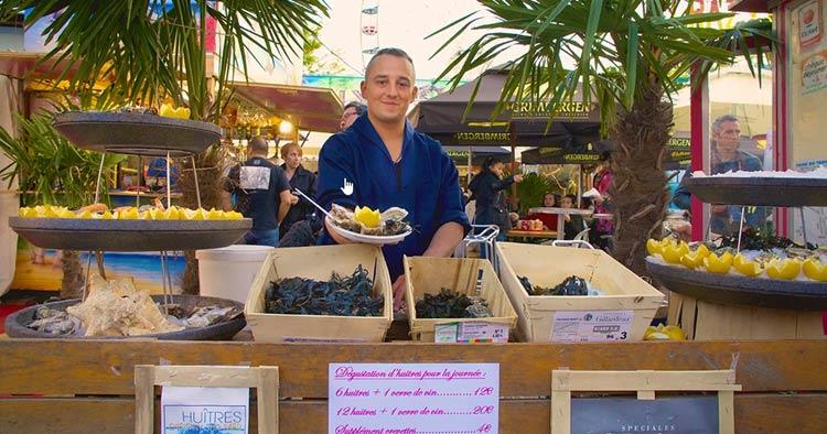 Foire du Trône food: oysters