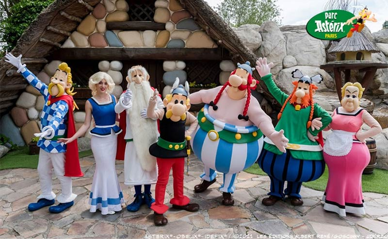 Asterix characters at the Parc Astérix