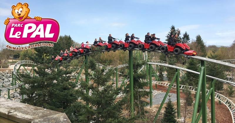 Yukon Quad Roller coaster at Le Pal: A French amusement park
