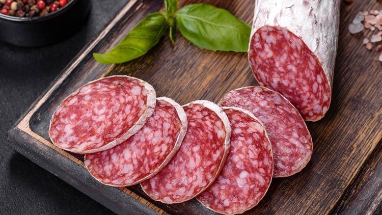 Italian Salami: charcuterie board meat
