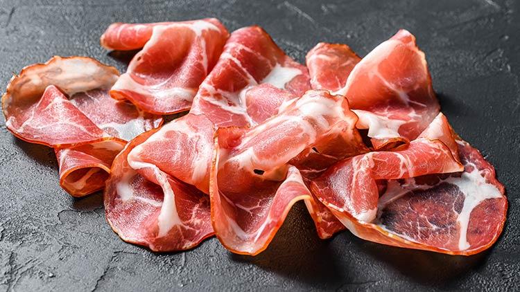 Italian Pancetta Ham: charcuterie board meat