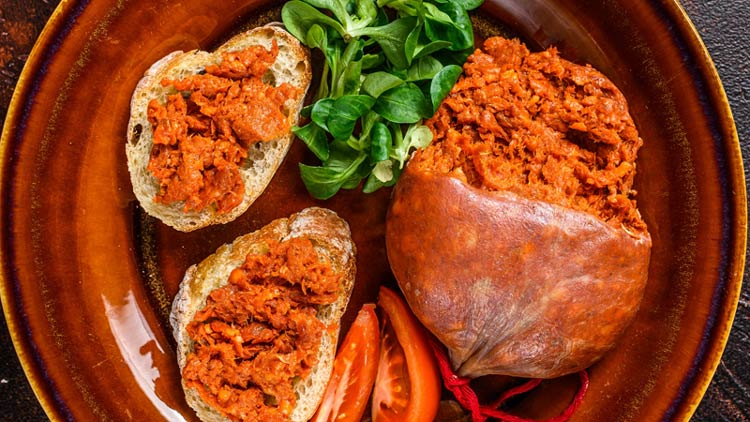Spanish Sobrassado Charcuterie board meats