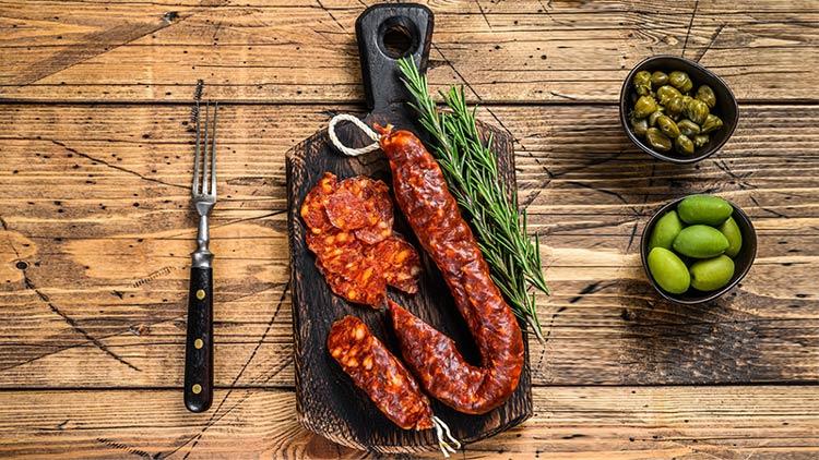 Spanish Chorizo: Charcuterie board meats