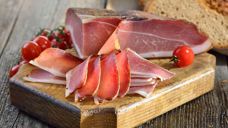 Italian Speck Charcuterie Ham: charcuterie board meat
