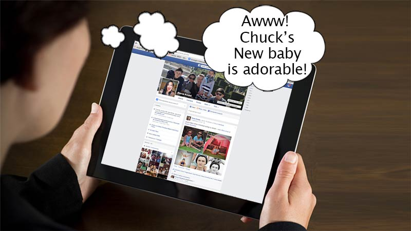 Travel with tablet: to keep up with friends on Facebook